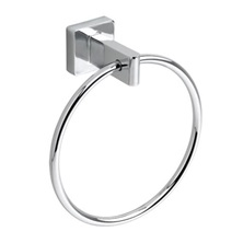 "CS SERIES Polished Chrome 7-1/8"" Metal Round Towel Ring"