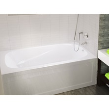 "White PHOENIX 60"" x 30"" Left Drain Acrylic Bathtub With Integrated Skirt"