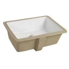 "White Catena Vitreous China Undermount Square Sink 20"" x 15-3/8"" With Front Overflow Hole"