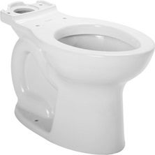 Cadet Pro Round Front Toilet Bowl White With EverClean Surface Less Seat