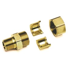 "3/4"" Gastite x NPT Brass Straight Fitting"