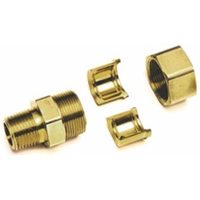 "1/2"" Gastite x NPT Brass Straight Fitting"