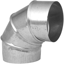 "Adjustable Galvanized Elbow 4"" x 90° 30G"