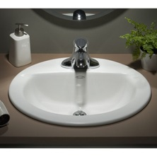 "Colony Countertop Sink White Countertop Vitreous China 4"" Center 0346403.020"