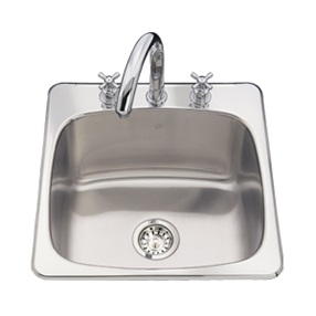 Topmount Single Bowl Laundry Sink With Faucet Ledge Stainless Steel