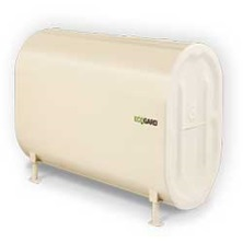 "200 Gallons 12 Gauge ECOGARD Double Bottom Oil Tank 1/2"" Bottom Outlet - Top Openings Include 2 Of 2"" And 1 Of 1-1/2"" For Indoo Use"